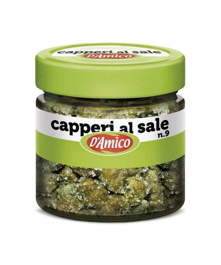 Каперсы в соли №9 75 г, Capperi al sale n.9 D'Amico, 75 gr