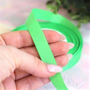 Репсовая лента декоративная - Зеленая 12 мм