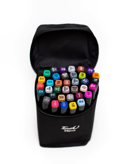 Фломастеры маркеры двусторонние для скетчинга Touch Cool 36 цветов