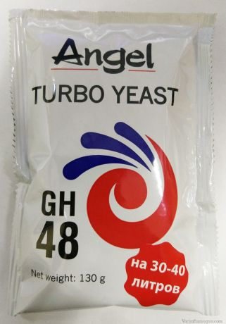 Спиртовые турбо дрожжи Angel Turbo 48, 130 г