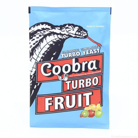 Спиртовые турбо дрожжи Coobra Turbo Fruit, 40 г