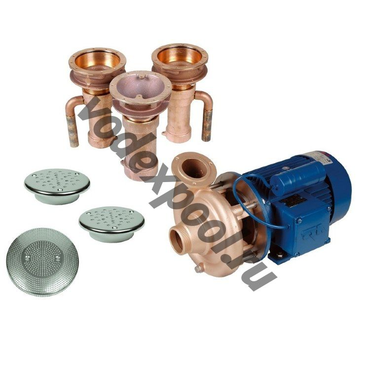 Гидромассаж Fitstar Combi-Whirl 8610020 (220/380 В, 2,6 Квт) компл: насос, 2 форсунки, водозабор