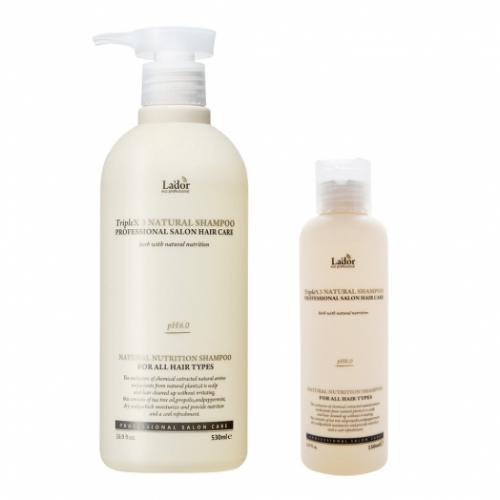 Бессульфатный органический шампунь с эфирными маслами Lador Triple Natural Shampoo