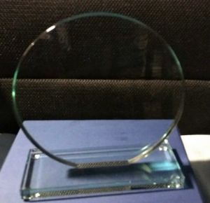 Приз  из стекла (16 см, включено нанесение + футляр)