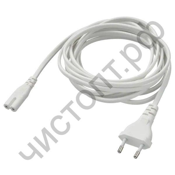 Кабель сетевой для бытовой техники,радиоприем., OT-ELS05 Белый (С7/2.5А) -1,5м