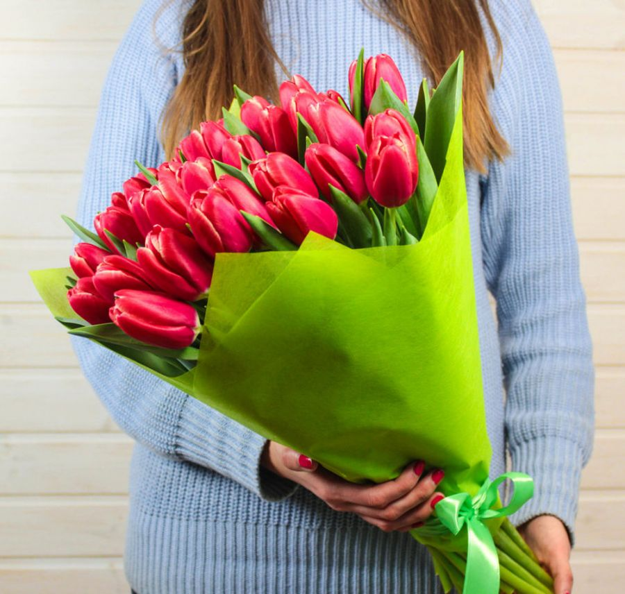 Тюльпаны 35 шт (любой цвет)