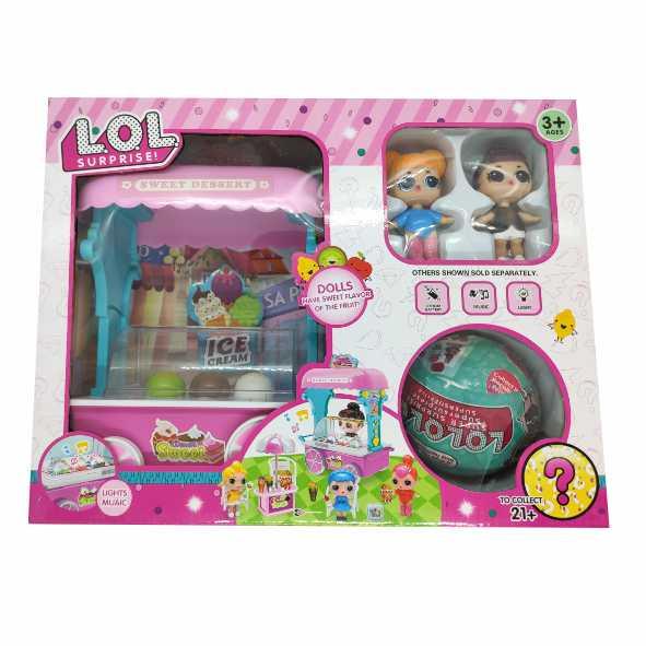 Набор LOL палатка мороженого, 2 куклы и шар сюрприз