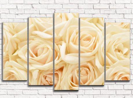 Модульная картина Бежевые розы