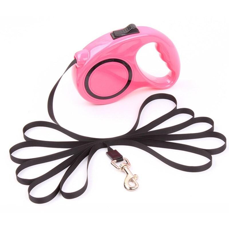 Ленточная рулетка - поводок с механическим блокиратором длины Retractable Dog Leash, 3 м