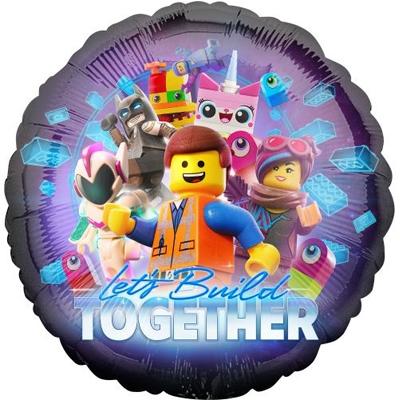 Давай строить вместе! Лего Муви шар фольгированный с гелием