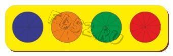 Рамка вкладыш Дроби, Никитин, 4 круга, ур.3, в асс-те 22027