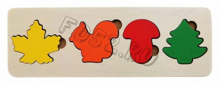 Рамка вкладыш Краски осени ,4 детали, 326618