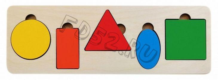 Рамка вкладыш Простая геометрия, 5 деталей 326615