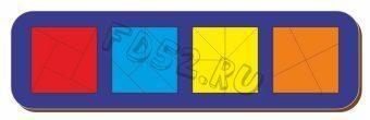 Рамка вкладыш Сложи квадрат, Никитин, 4 квадрата, ур.3, в асс-те 22034