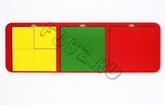 Рамка вкладыш Собери квадрат 3 фигуры, 28х10 см, Уровень 1, в асс-те 22171