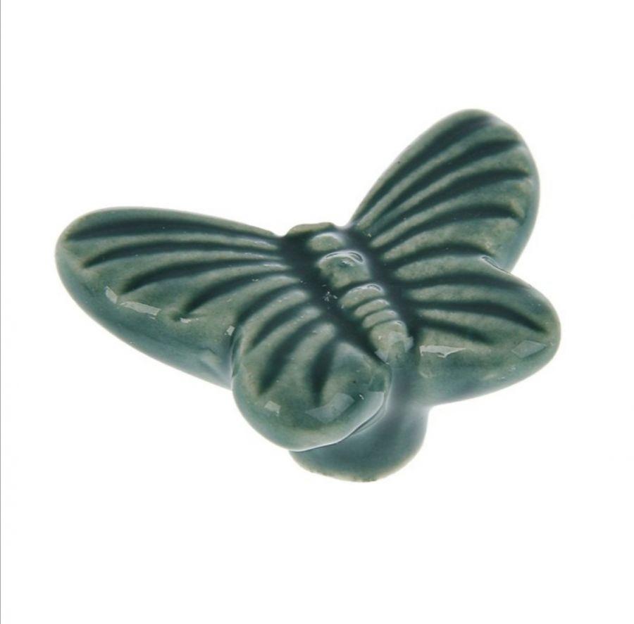 Ручка-кнопка, керамика, Бабочка
