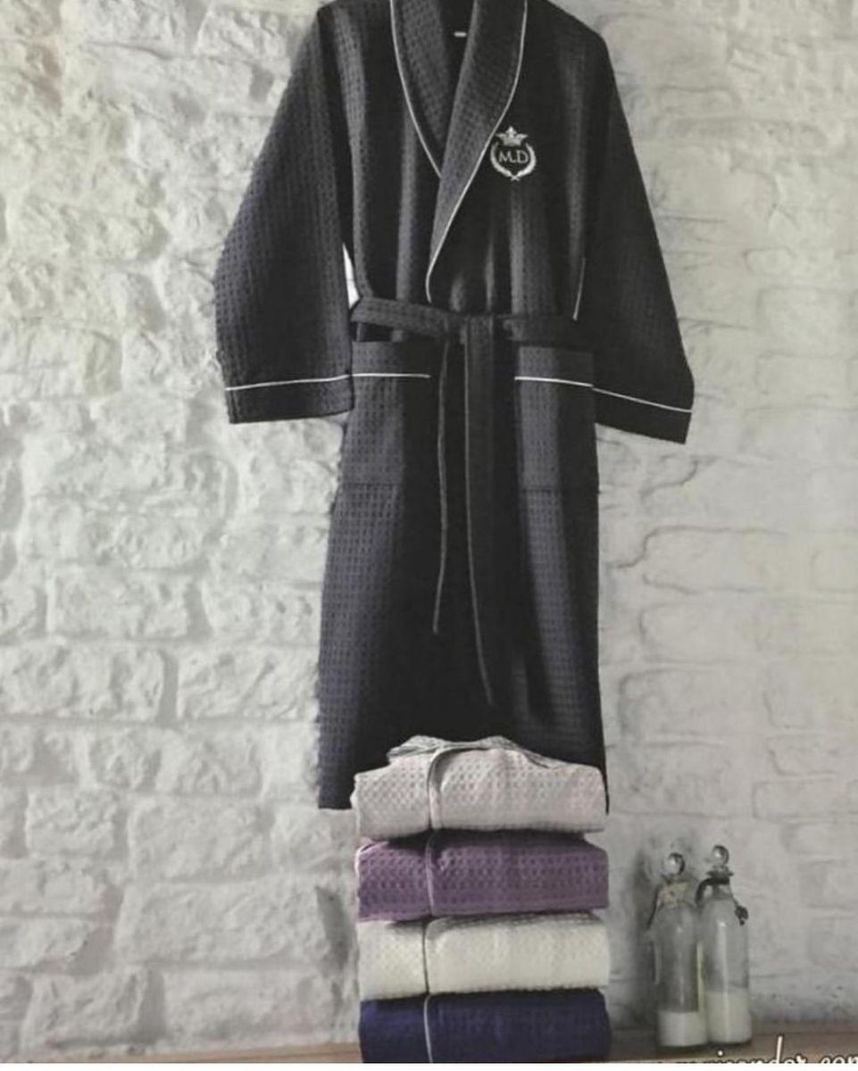 Вафельные мужские халаты