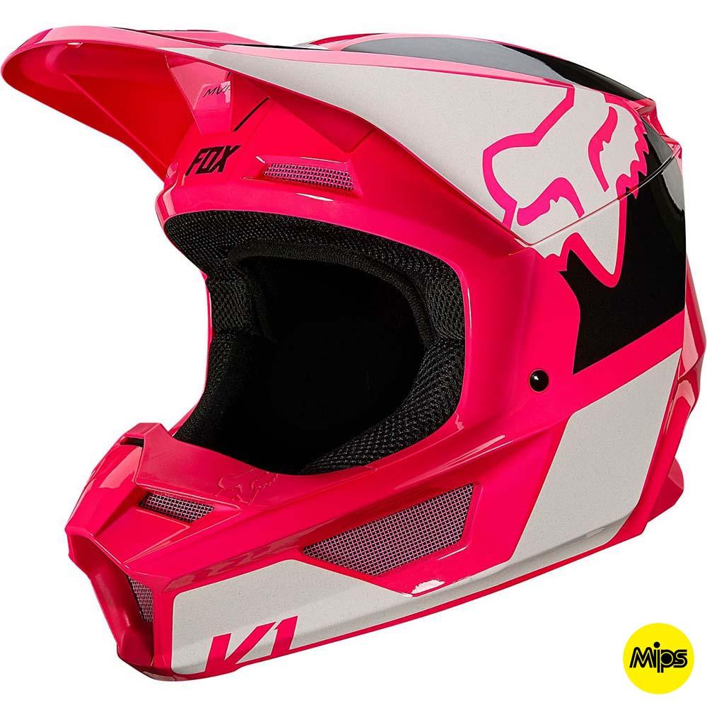 Fox V1 Revn Pink шлем внедорожный