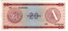 Куба 20 песо 1985 А