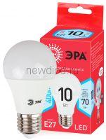 Лампы СВЕТОДИОДНЫЕ ЭКО ECO LED A60-10W-840-E27  ЭРА (диод, груша, 10Вт, нейтр, E27)