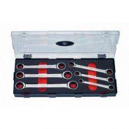 K50625 Набор накидных трещоточных ключей 8-19 мм, 6 предметов FORCE