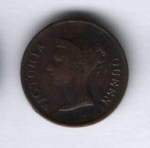 1/4 цента 1845 года Стрейтс Сетлементс