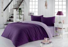 Постельное белье трикотажное SOFA (фиолетовый-св.лаванда)евро Арт.2988-1