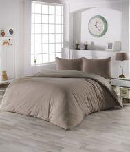 Комплект постельного белья трикотажный  SOFA (кофейный-бежевый) евро   Арт.2988-8