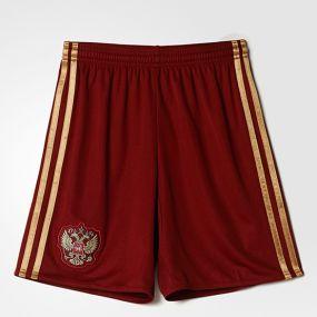 Детские шорты adidas Russian Football Union Home Shorts Youth бордовые