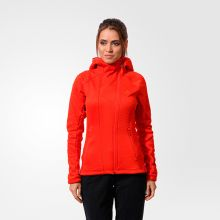 Женская толстовка adidas Women's Climaheat Hoodie Fleece Jacket оранжевая