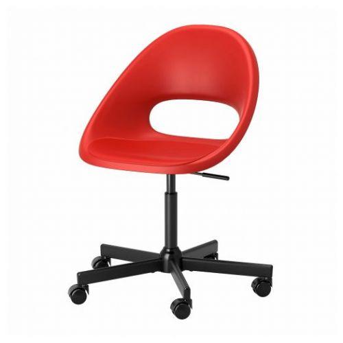 ELDBERGET ЭЛДБЕРГЕТ / MALSKAR МАЛЬСКЭР, Рабочий стул, красный/черный - 893.318.55