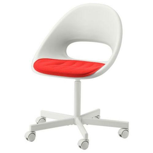 LOBERGET ЛОБЕРГЕТ / BLYSKAR БЛИСКЭР, Рабочее кресло c подушкой, белый/красный - 493.319.18