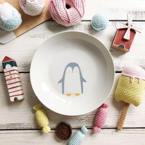 Тарелка глубокая «Пингвинчик» Sans Brides 20 см фарфор