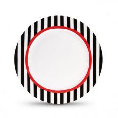 Тарелка фарфоровая Remember, Black Stripes