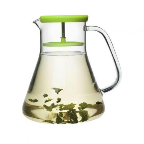 Чайник стеклянный Dancing Leaf зелёный