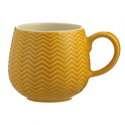 Чашка Embossed 350 мл горчичная