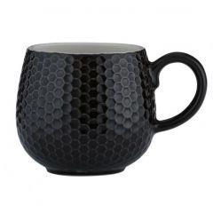 Чашка Embossed 350 мл черная
