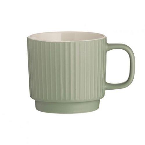 Чашка Embossed зеленая 355 мл