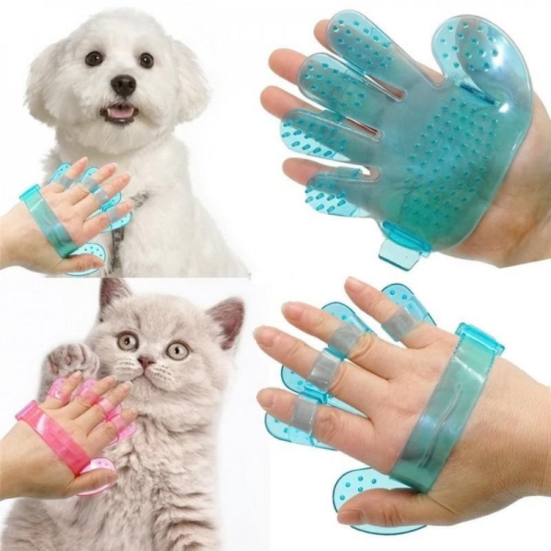 Щетка для мытья животных Pet Wash Brush, Голубая