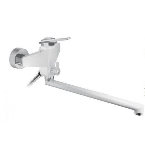 Смеситель для ванны Frap F2258 белый/хром