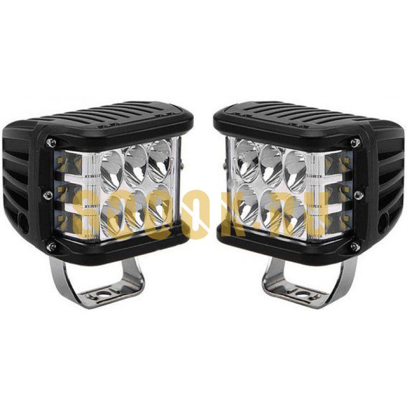 Комплект светодиодных фар рабочего света 90 Вт с боковым засветом