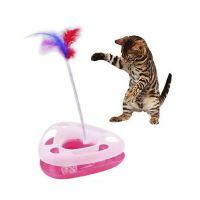 Треугольный трек-игрушка для кошек Happy Circle, Розовый