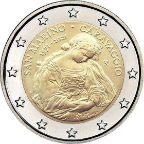 425 лет со дня рождения Микела́нджело Меризи да Карава́джо  2 евро Сан-Марино 2021