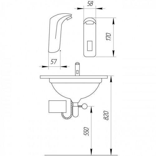 Сенсорный смеситель для раковины Frap F511-1