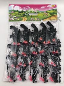 Игрушка Пистолет с присосками YX черный на блистере на листе по 20 шт