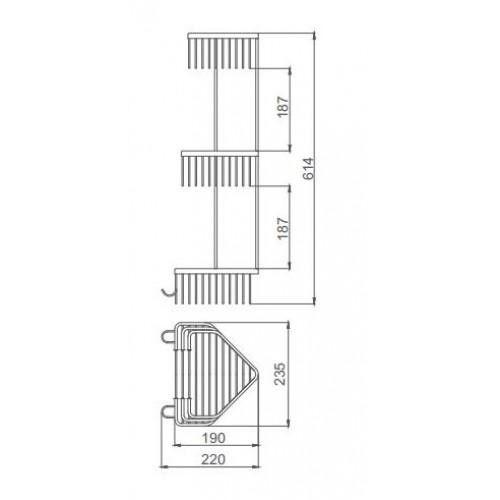 Полочка-решетка Frap F351-2