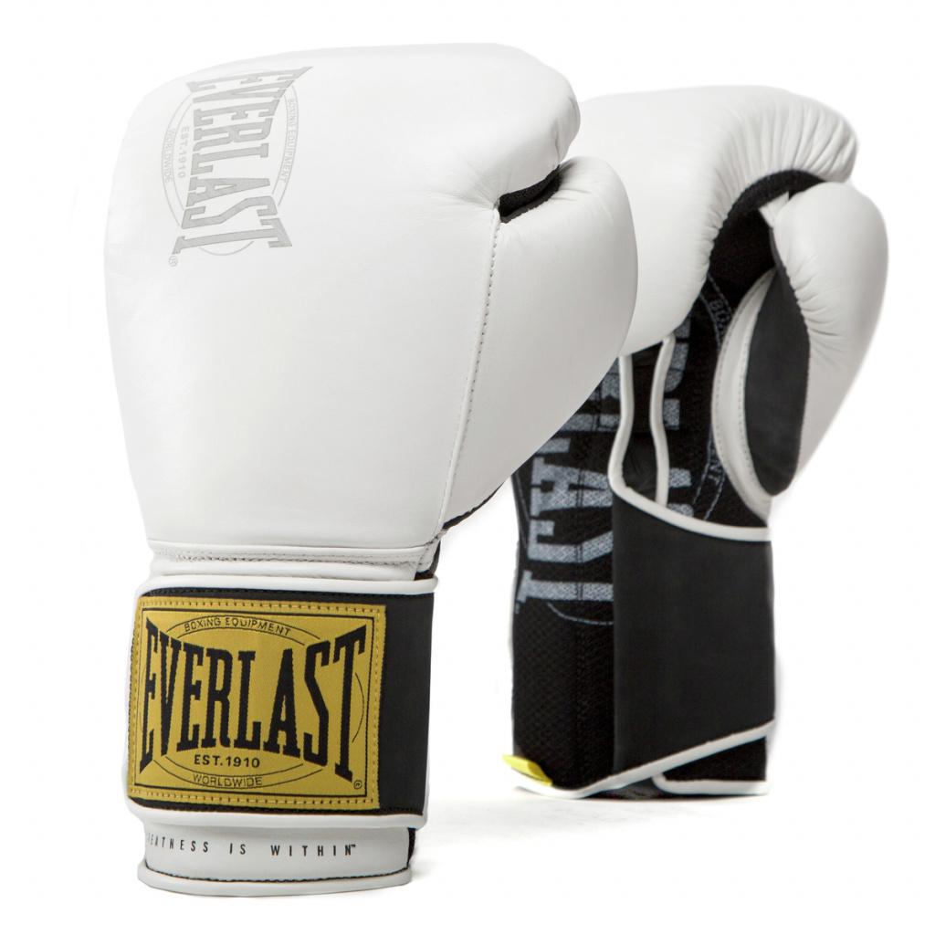 Перчатки тренировочные Everlast  1910 Classic 12oz бел, артикул P00001705
