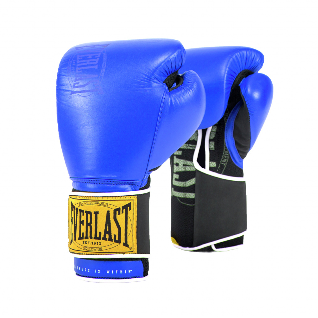 Перчатки тренировочные Everlast  1910 Classic 14oz синие, артикул P00001715
