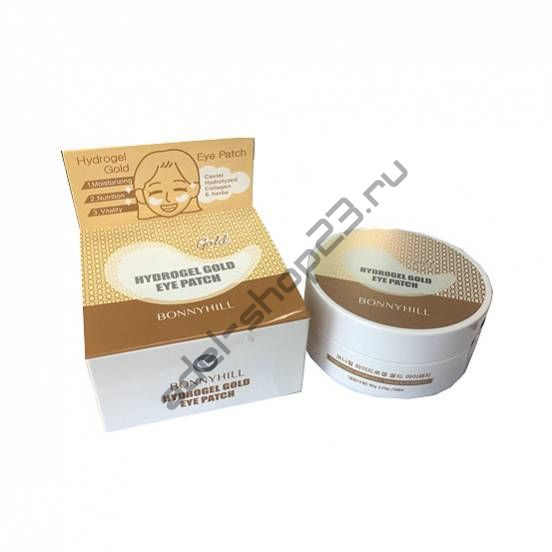 BonnyHill - Гидрогелевые патчи для кожи глаз Hydrogel Gold Eye Patch»