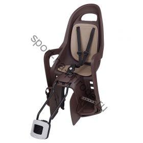 """Заднее велокресло Polisport Groovy Maxi FF 29"""" коричневый/бежевый"""